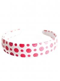 Spaanse haarband / diadeem, wit/rood