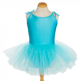 Balletpakje tutu met striklinten blauw