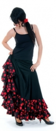 Flamenco skirt ladies with dots and Volants Deluxe