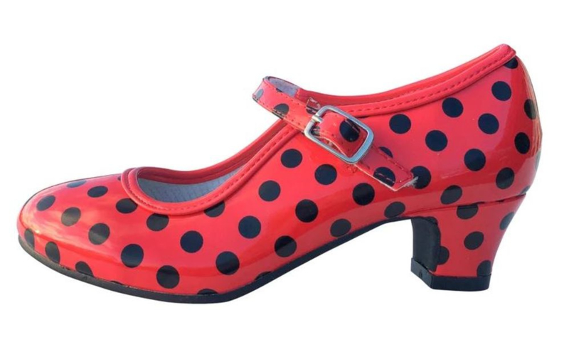 Flamenco shoes red black glossy NEW