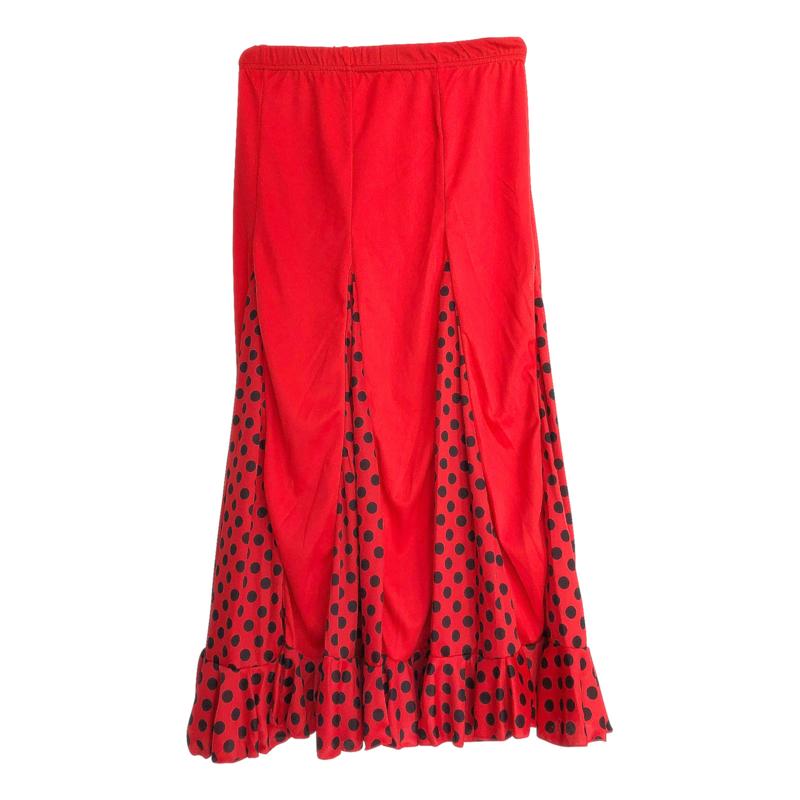 Spaanse flamenco rok meisjes rood zwarte stippen NIEUW