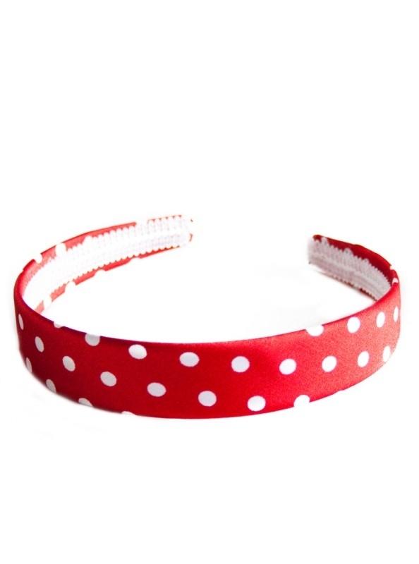 Spaanse haarband / diadeem, rood/wit