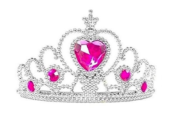 Anna Frozen kroon / tiara roze steen
