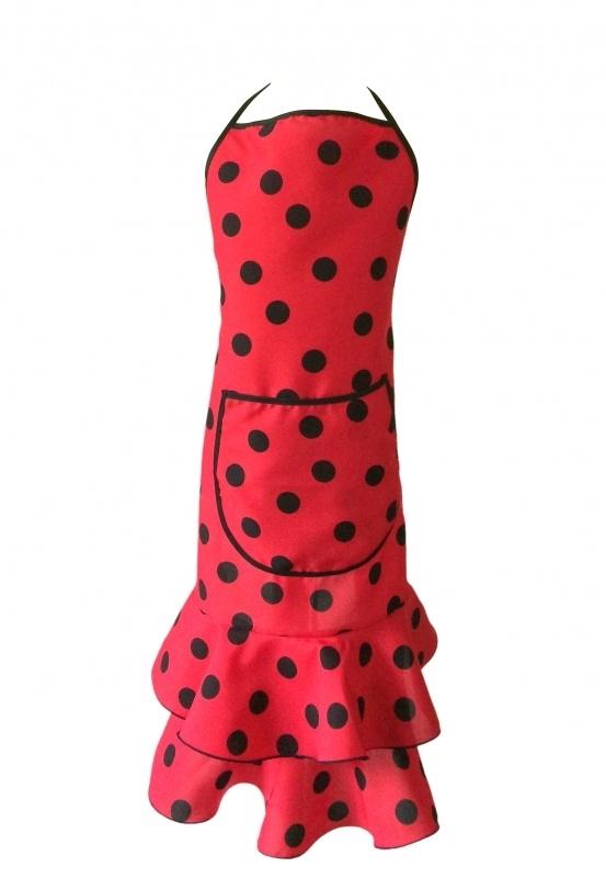 Flamenco Apron red black dots Deluxe