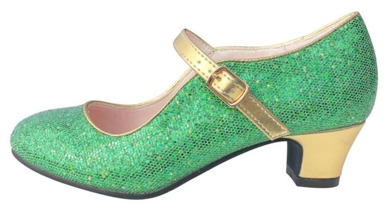 Chaussures flamenco - Vert d'or Glamour