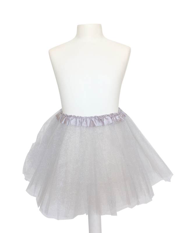 Ballet rokje zilver glitter