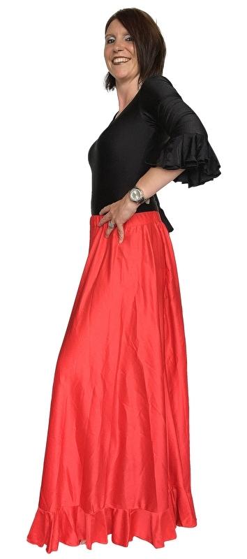 Spaanse Flamenco rok dames rood