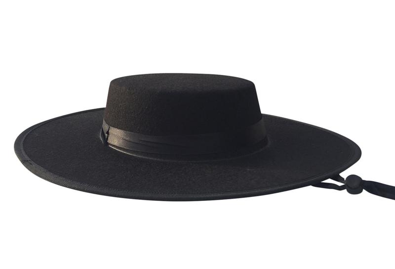 Spaanse sombrero zwart volwassenen