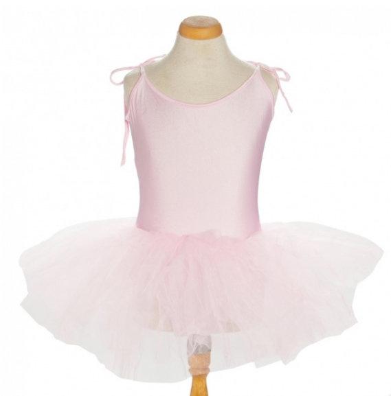 Balletpakje tutu met striklinten licht roze