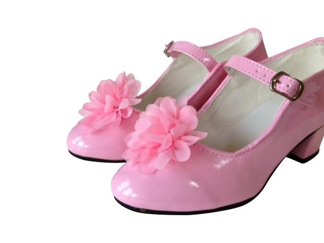 Spaanse Schoenen Clip bloem licht roze