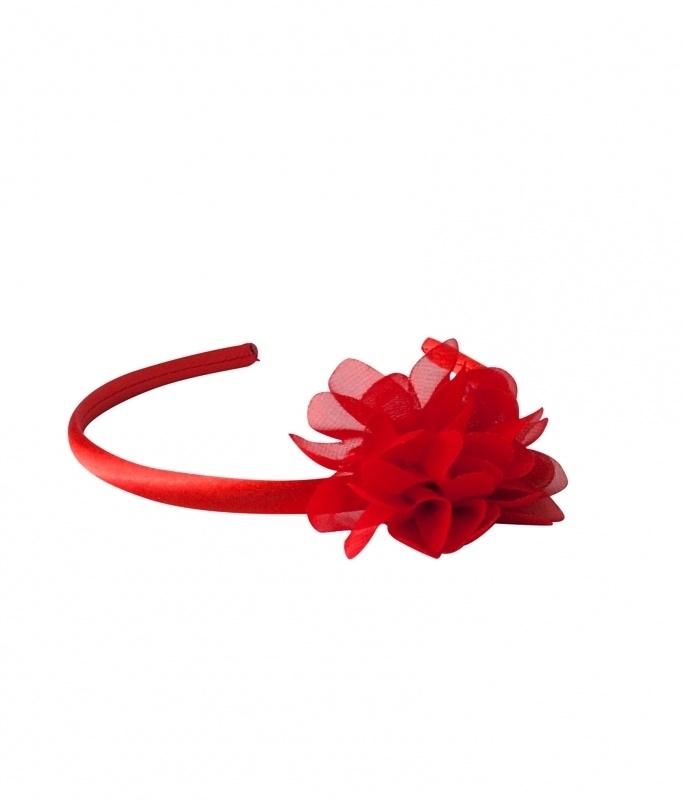 Headband red flower