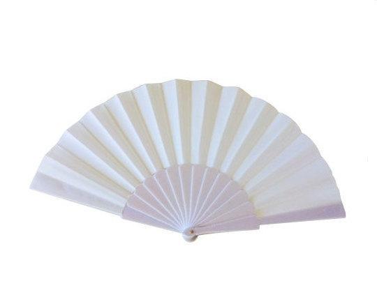 Flamenco Fan white