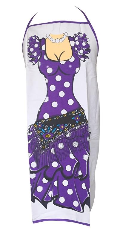 Spanish Apron ladies purple white