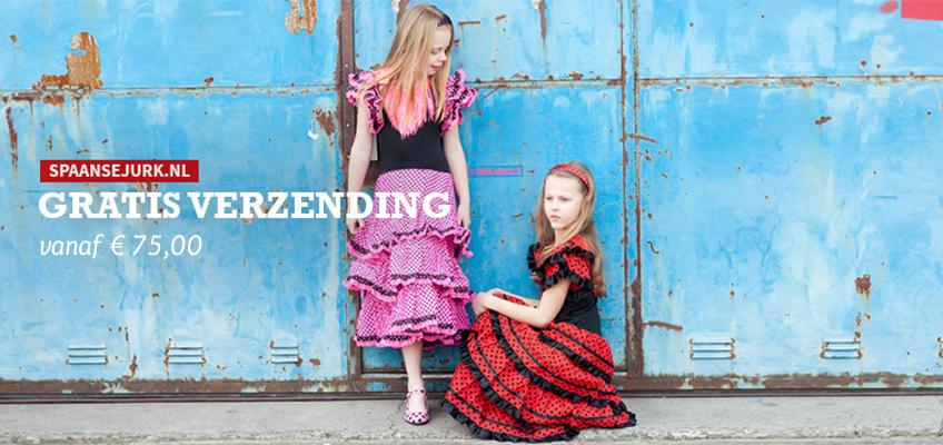 Spaanse jurk gratis verzenden vanaf 75 euro