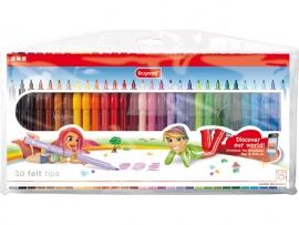 Bruynzeel Viltstiften Etui met 30 kleuren [648]