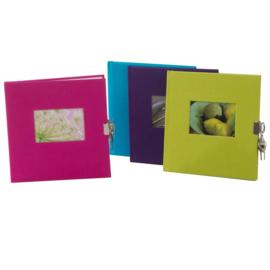 Goldbuch Bella Vista Linnen dagboek met slot en foto-kader