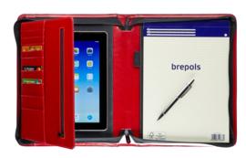 Brepols Palermo Luxe Lederlook Presentatiemap A4 Rood