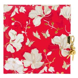 Turnowsky La Rose rood dagboek met slot [1454]