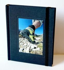 Goldbuch Tourboek Linnen reisdagboek met sluitelastiek donkerblauw [1917]