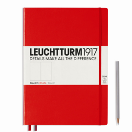Hardcover Notitieboek Leuchtturm1917 Blanco Master SLIM - A4 Rood