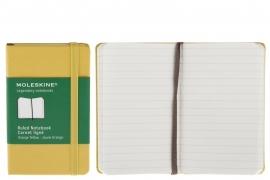 Moleskine Notitieboek Gelinieerd oker GEEL ORANJE 9x14cm (Pocket)