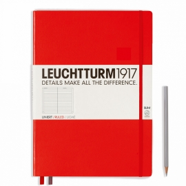 Hardcover Notitieboek Leuchtturm1917 Gelinieerd Master SLIM - A4 Rood [1603]