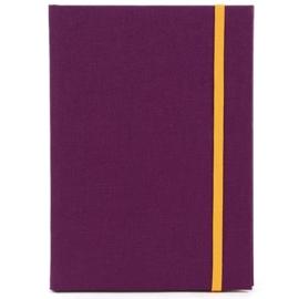 Goldbuch Linum gebonden gelinieerd Notitieboek 15,3 x 21,5cm Paars linnen