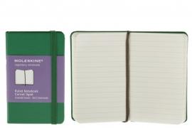 Moleskine Notitieboek Gelinieerd GROEN  9x14cm (Pocket) [2368]