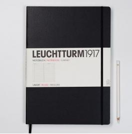 Hardcover Notitieboek Leuchtturm1917 Gelinieerd Master XL- A4 [325]