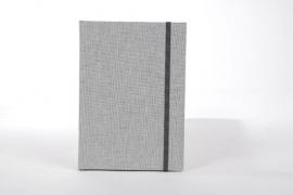 Goldbuch Linum gebonden blanco Notitieboek 15,3 x 21,5cm Grijs linnen