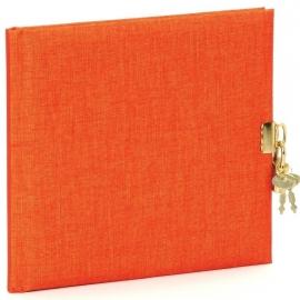 Goldbuch Summertime Linnen dagboek met slot oranje [1477]
