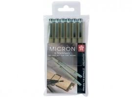 Etui Sakura Pigma Micron tekenpennen met 6 lijndiktes [521]