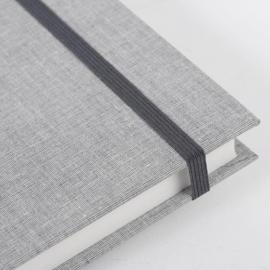 Goldbuch Linum gebonden gelinieerd Notitieboek 15,3 x 21,5cm Grijs linnen