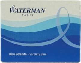 Waterman Standaard lange Inktpatronen Serenity Blue [1144]