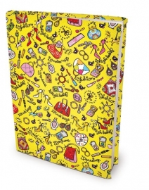 Dresz rekbare boekenkaft FASHION boekomslag van textiel A4 [992]