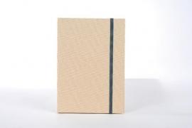 Goldbuch Linum gebonden blanco Notitieboek 15,3 x 21,5cm Beige linnen