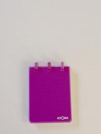 Trendy Atoma notitieblok A7 geruit lavendel