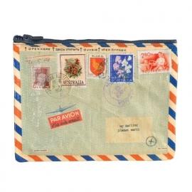 Zipper pouch Airmail BlueQ 18x24cm [1937]