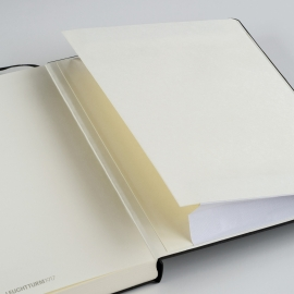 Hardcover Notitieboek Leuchtturm1917 Gelinieerd Master SLIM - A4 Zwart [322]