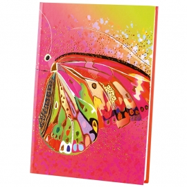 Turnowsky Flower pink Butterfly  Notitieboek Blanco A5