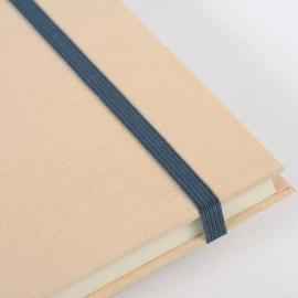 Goldbuch Linum gebonden gelinieerd Notitieboek 15,3 x 21,5cm Beige linnen