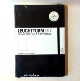 Hardcover notitieboek Leuchtturm1917  Blanco 14.5 x 21 (A5) zwart  [330]