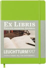 Leuchtturm1917 Ex libris Literatuurdagboek  A5 lentegroen Lime