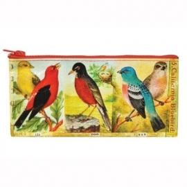 Etui voor je schrijfgerei BlueQ Vogels Birds met ritssluiting [498]