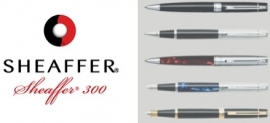 SHEAFFER 300 Gift Collection Rollerball Chroom - Rood  [2287]