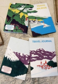 SUKIE Travel Journal  Alpine Village Reisdagboek met envelopjes [1526]
