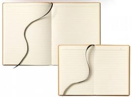 Brepols Moose gelinieerd notitieboek A5+ met omslag van gerecycled Leer
