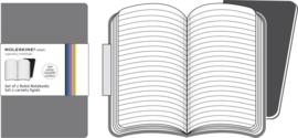 Setje van 2 Moleskine volant Gelinieerde notitieboeken  6,5x10,5 cm
