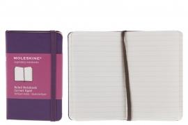 Moleskine Notitieboek Gelinieerd violet PAARS 9x14cm (Pocket)