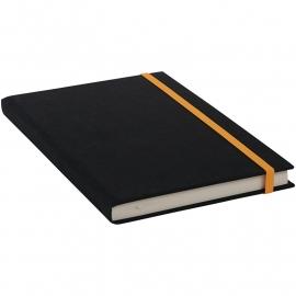 Goldbuch Linum gebonden gelinieerd Notitieboek 15,3 x 21,5cm Zwart linnen